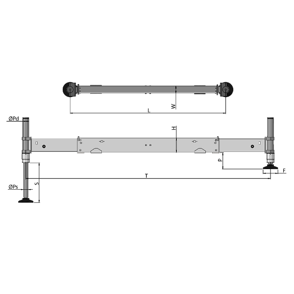 Opposed Beams Outrigger- TL
