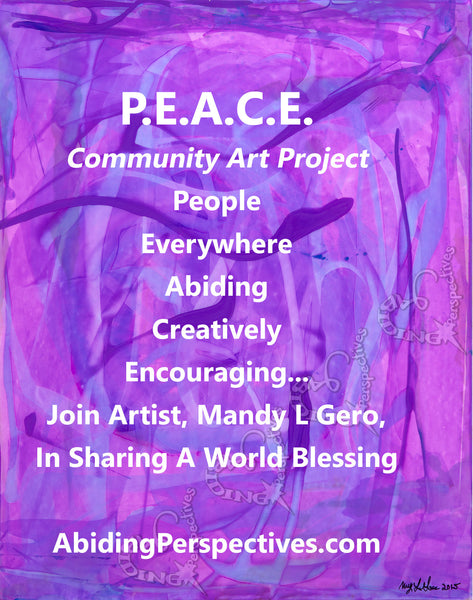 P.E.A.C.E. Community Art Project Inkings