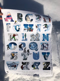 Alaska Backcountry Chugach Alphabet poster