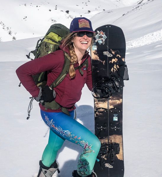 Alaska wildflower leggings