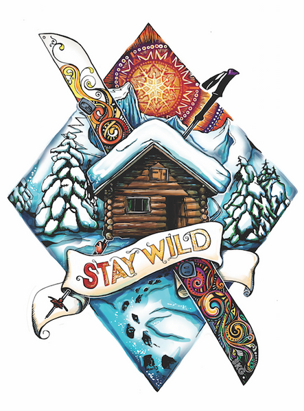 Stay Wild Sticker!!