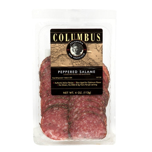 Columbus Brand sliced Peppered salami