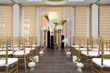 Terrace elegance decor with aisle treatment