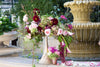 Fountain decor in pedestal vase