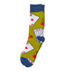 "Men's ""Cards & cherries ""Socks"
