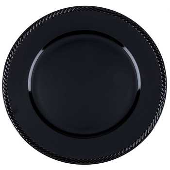 Black Charger Tray