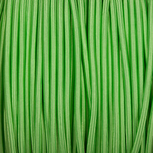 Round lighting cable - Apple green braided fabric