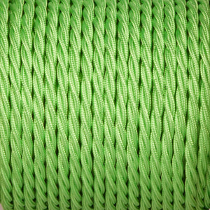 Twisted lighting cable - Apple green Braided fabric