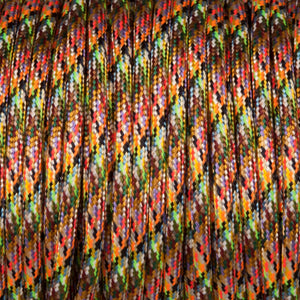 Round lighting cable - Aztec Harlequin braided fabric