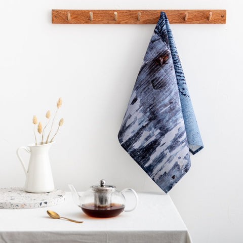 Abstract Textured Cotton Tea Towel - 'Breeze'