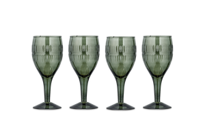 Dark Emerald Wine Glass - Set of 4