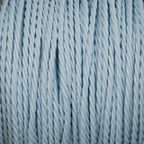 Twisted lighting cable - Baby blue braided fabric