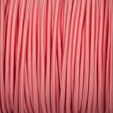 Round lighting cable - Baby pink braided fabric