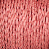 Twisted lighting cable - Baby pink braided fabric