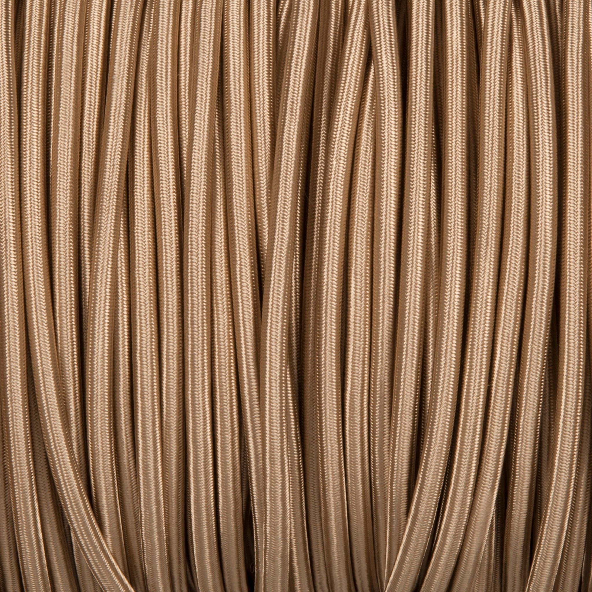 Round lighting cable - Beige braided fabric