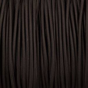 Round lighting cable - Black braided fabric