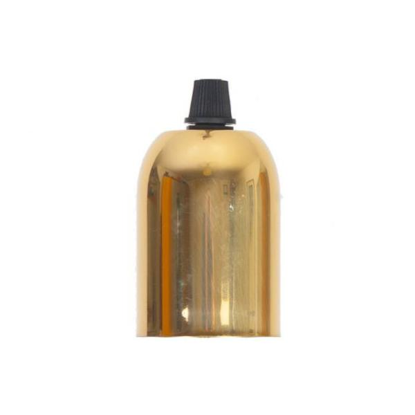 Lampholder - E27 Brass drop cap with grip