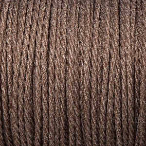 Twisted lighting cable - Brown canvas linen braided fabric