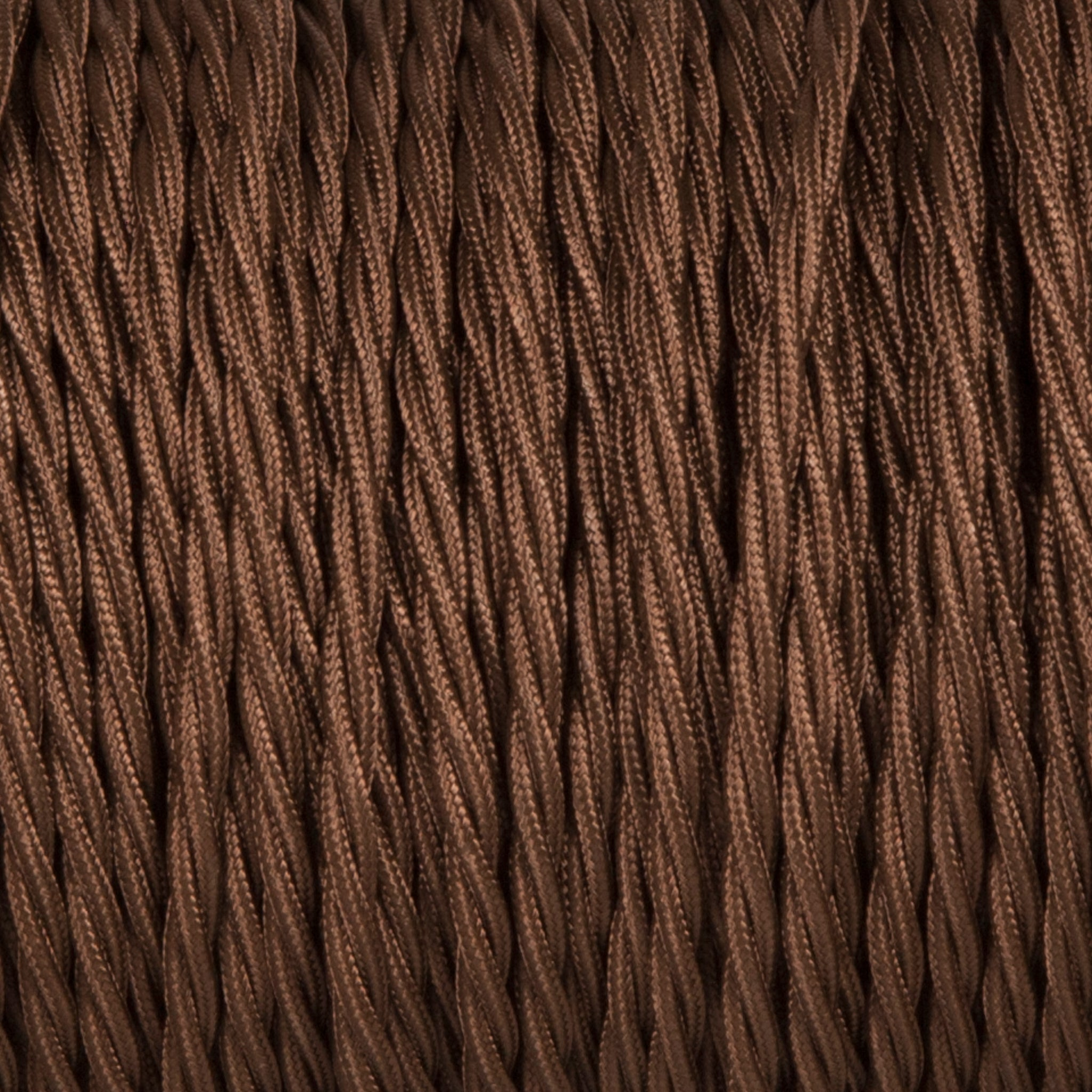 Twisted lighting cable - Brown braided fabric