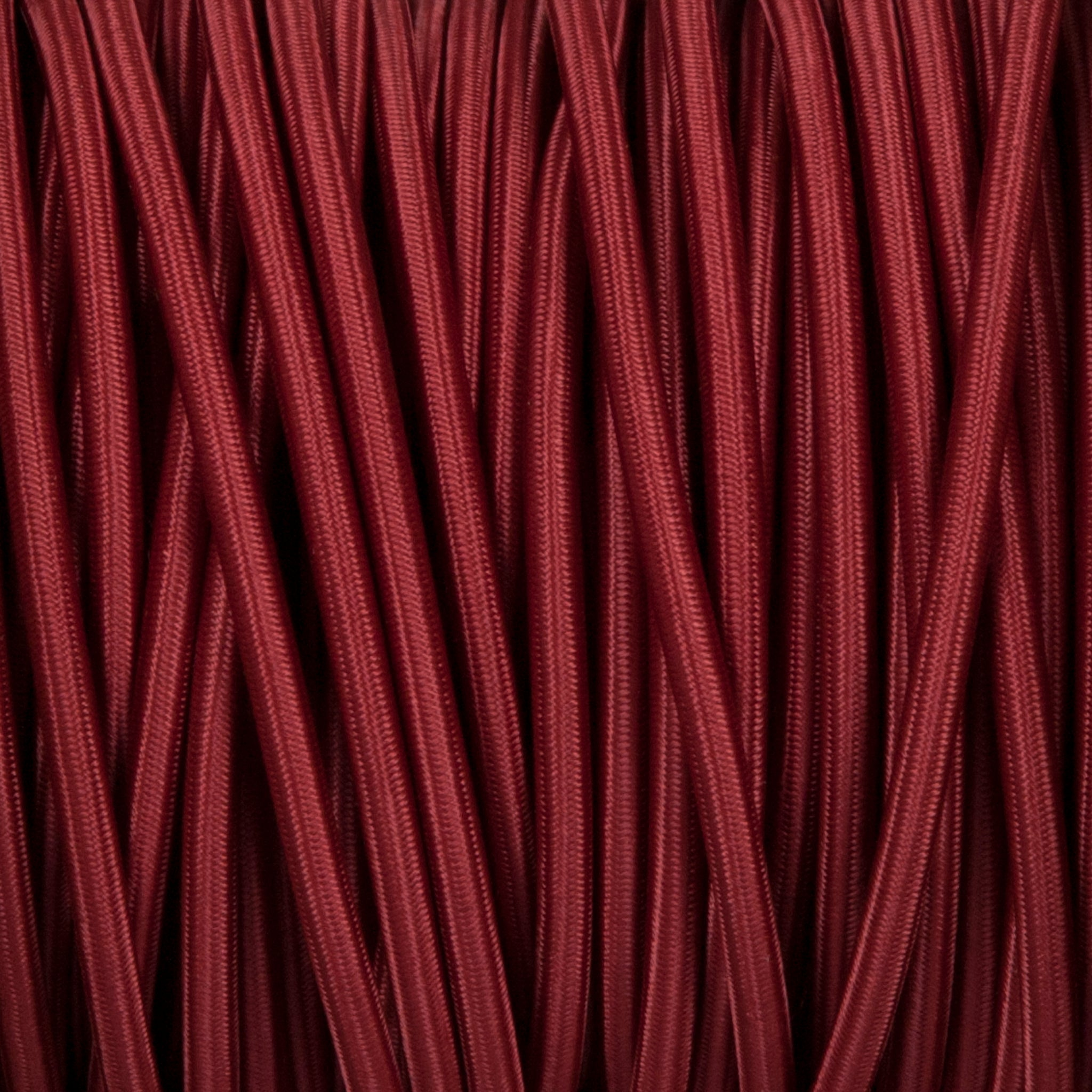 Round lighting cable - Burgundy braided fabric
