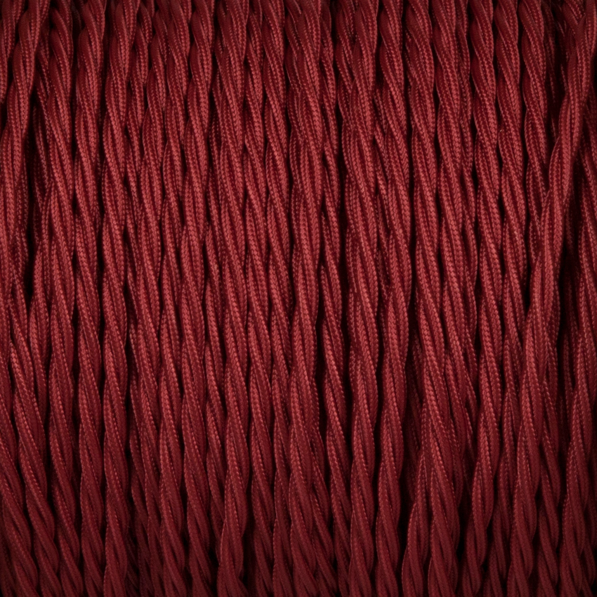 Twisted lighting cable - Burgundy braided fabric