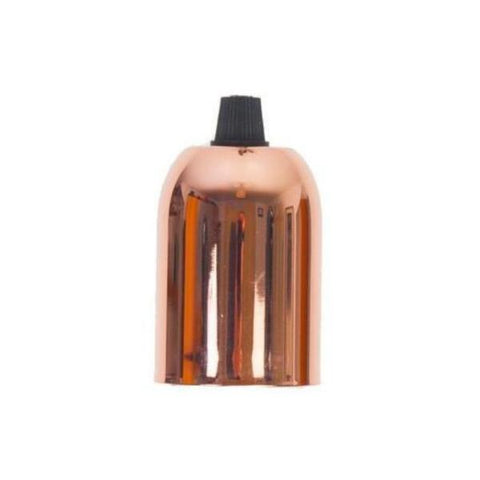 Lampholder - E27 Copper drop cap with grip