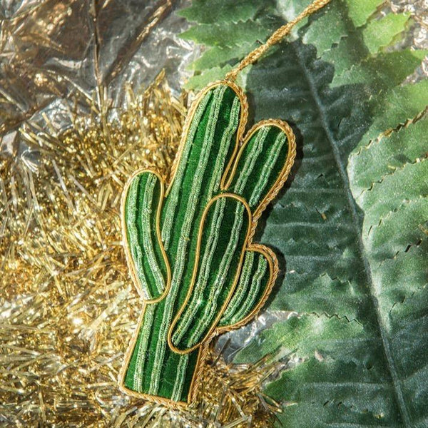 Hand Embroidered Cactus Decoration