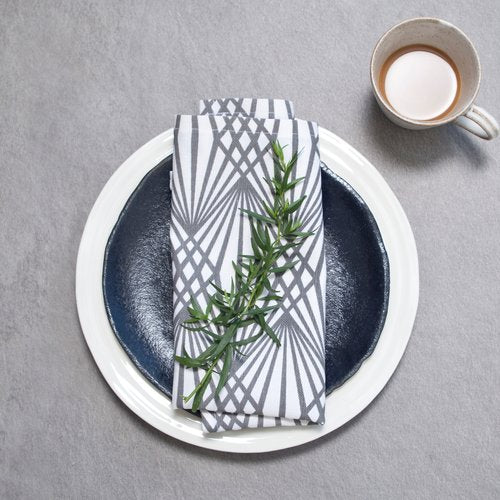 Grey/Deco Napkins