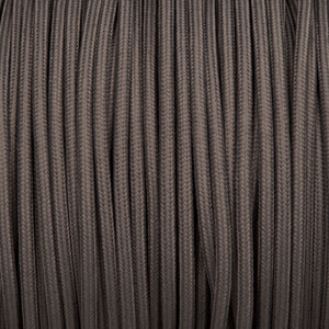Round lighting cable - Dusk grey braided fabric