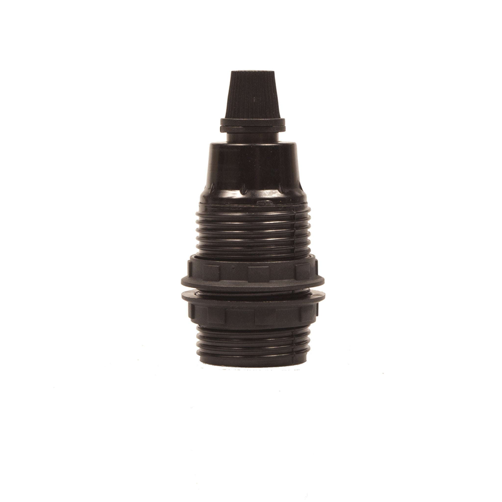 Lampholder - E14 Black Plastic with grip