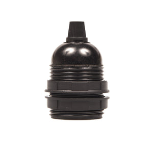Lampholder - E27 Bakelite Black Plastic with grip