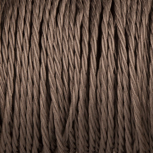 Twisted lighting cable - Elephant grey braided fabric