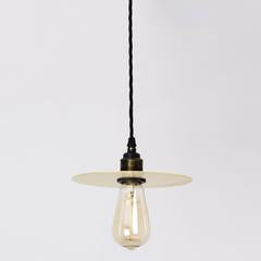 Brass flat disc shade