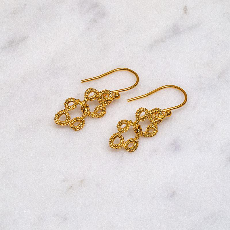 Entwined Earrings Gold
