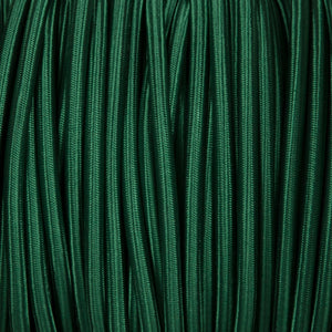 Round lighting cable - Forest green braided fabric