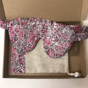 Luxury Sleep Mask In Liberty London Fields Pink