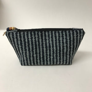 Black and blue grey Cosmetic Bag - Large