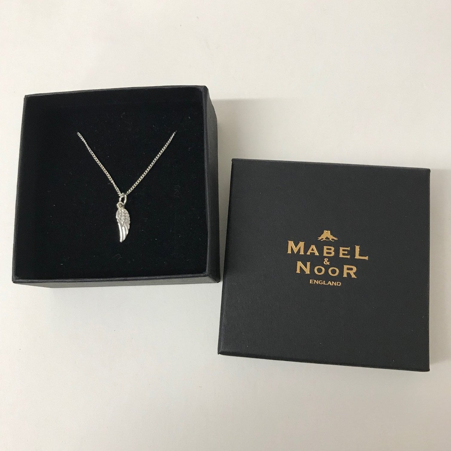 Mabel & Noor Silver Jewellery - Silver Wishwing Necklace