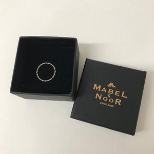 Mabel & Noor Silver Jewellery - Thin Silver Twist Ring