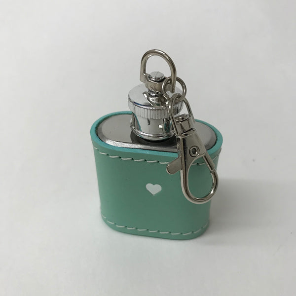 Turquoise Leather Hip Flash Keyring