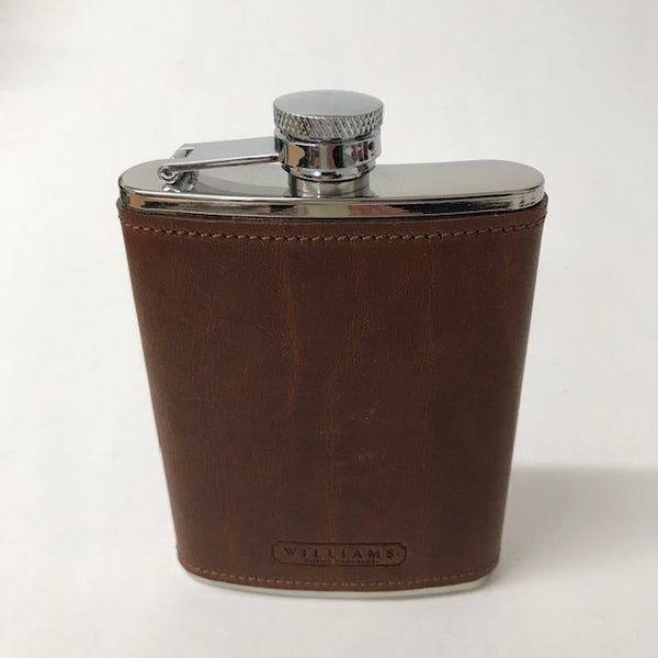 Large Leather Hip Flask