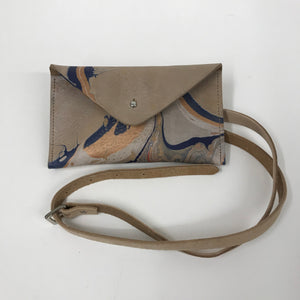Marbled Leather belt bag