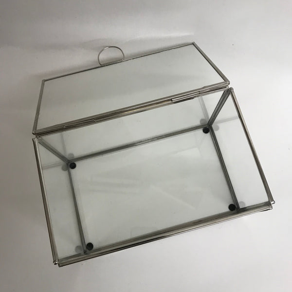 Glass Silver display boxes