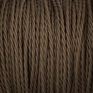 Twisted lighting cable - Khaki braided fabric