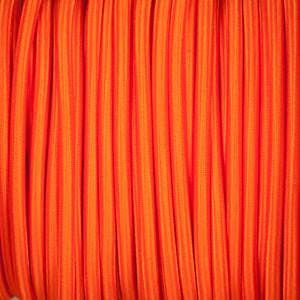 Round lighting cable - Matt orange braided fabric