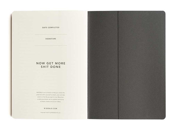 Get Shit done manifesto To-Do-List Notebook (Black A5)