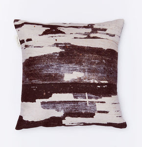 Ruth Holly Cushion - Monochrome Statement Linen Cushion