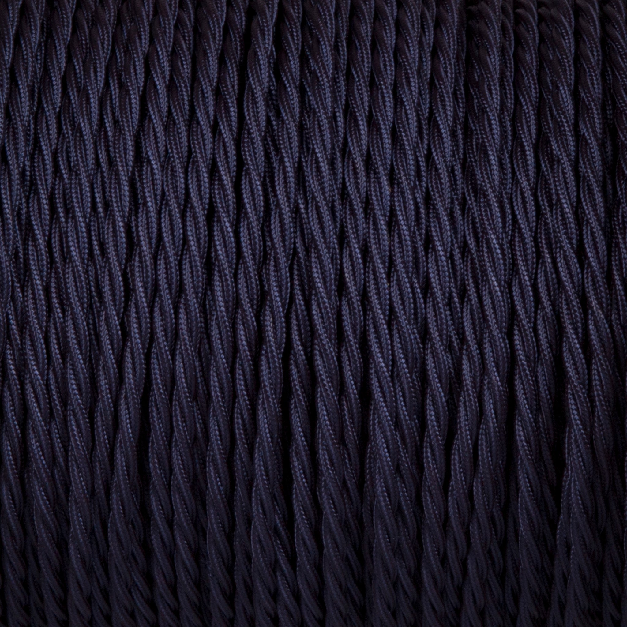 Twisted lighting cable - Navy blue braided fabric