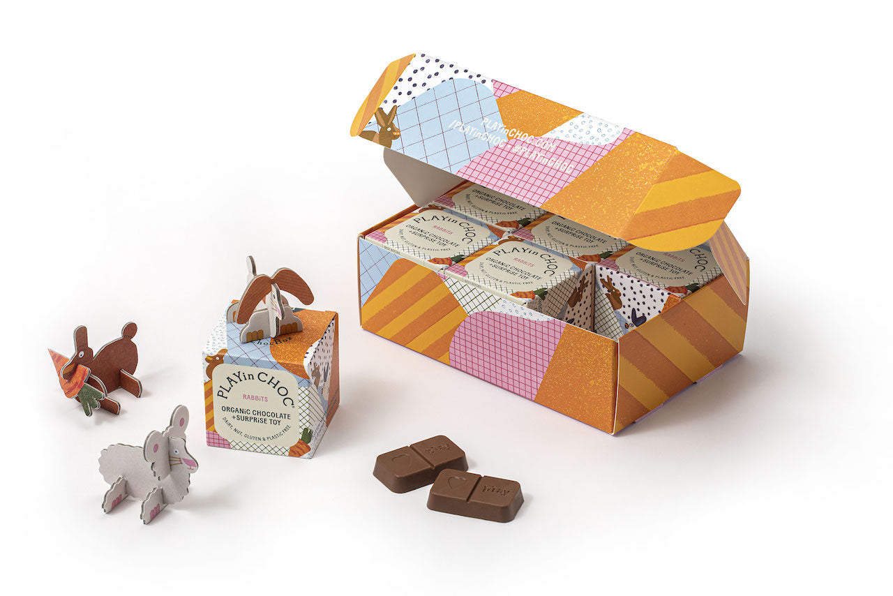 RABBiTS GiFT SET includes 6 Playin Choc Box's 100% Organic