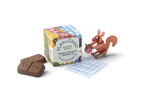 WOODLAND ANiMALS Playin Choc Box 100% Organic